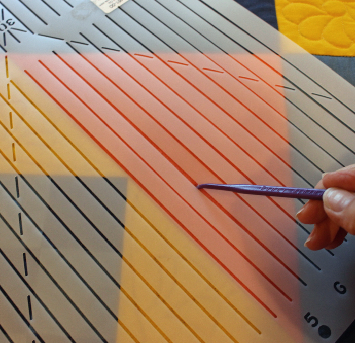 Everything you need to know about how to use stencils for quilting. Lots of tips and information about choosing the best size, marking, and stitching from Julie @ The Crafty Quilter