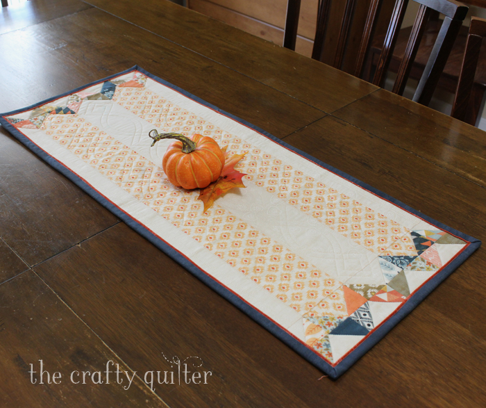 Fall Table Runner made by Julie Cefalu @ The Crafty Quilter