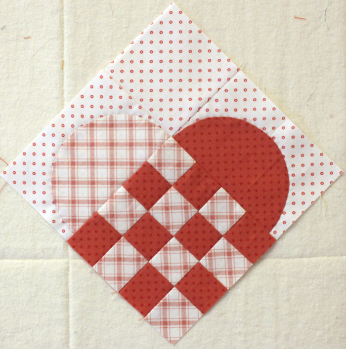 Woven Heart block tutorial coming soon