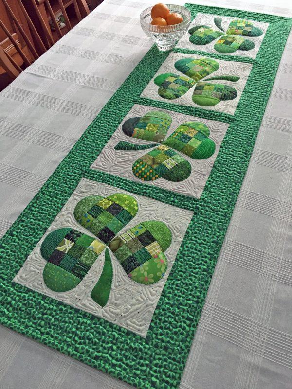 Shamrock Table Runner designed by Joan Ford for Bernina