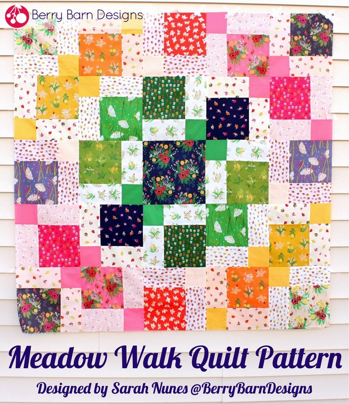 Meadow Walk Quilt Pattery by Sarah Nunes @ Berry Barn Designs