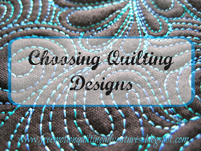 How to Choose Quilting Designs @ Amy's Free Motion Quilting Adventures