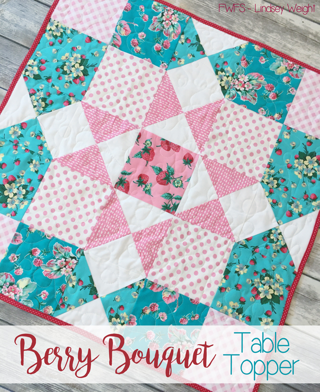 Berry Boquet Table Topper from Fort Worth Fabric Studio