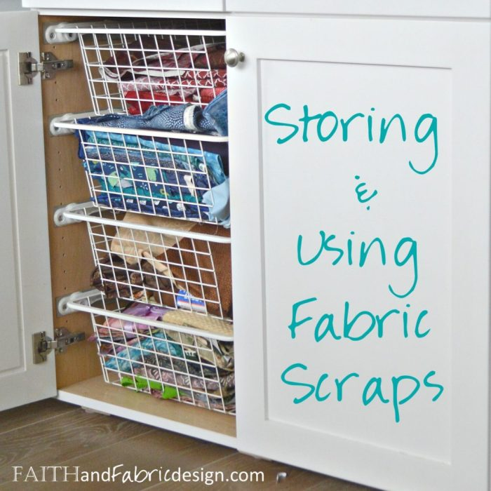 Storing & Using Fabric Scraps @ Faith and Fabric Design