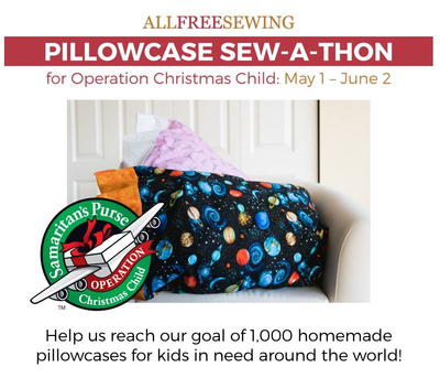 Pillowcase Sew-a-Thon at AllFreeSewing