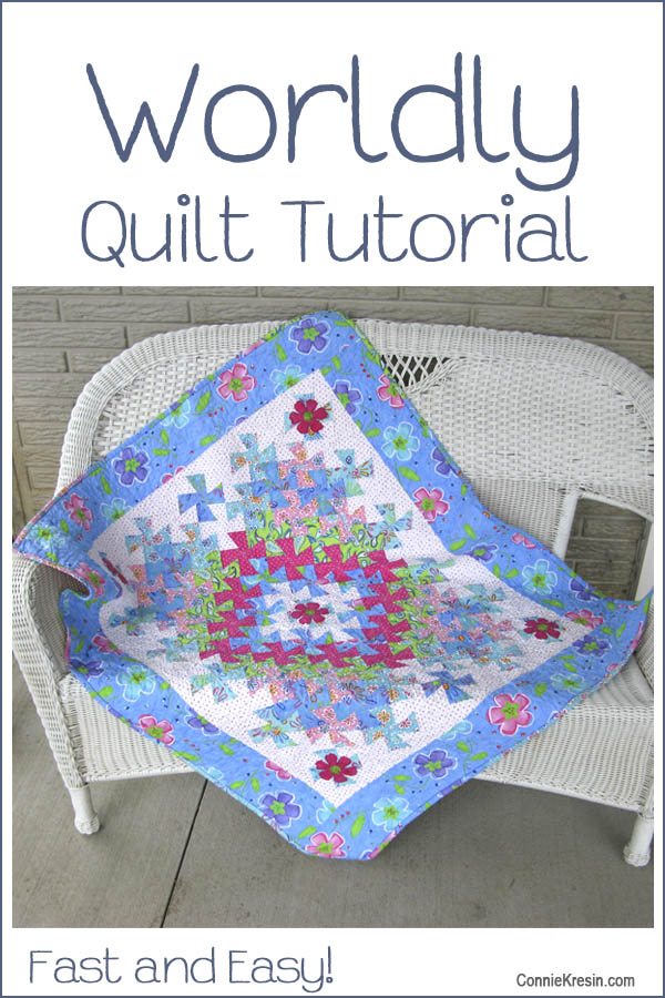 Worldly Quilt Tutorial @ Free Motion by the River