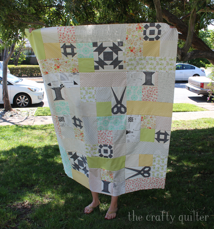 Sewing Patchwork quilt made by Julie Cefalu; pattern by Fig Tree Quilts
