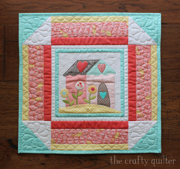 I Love Home BOM by Jacquelynne Steves; interpreted as Four Seasons Mini Quilts by Julie Cefalu @ The Crafty Quilter