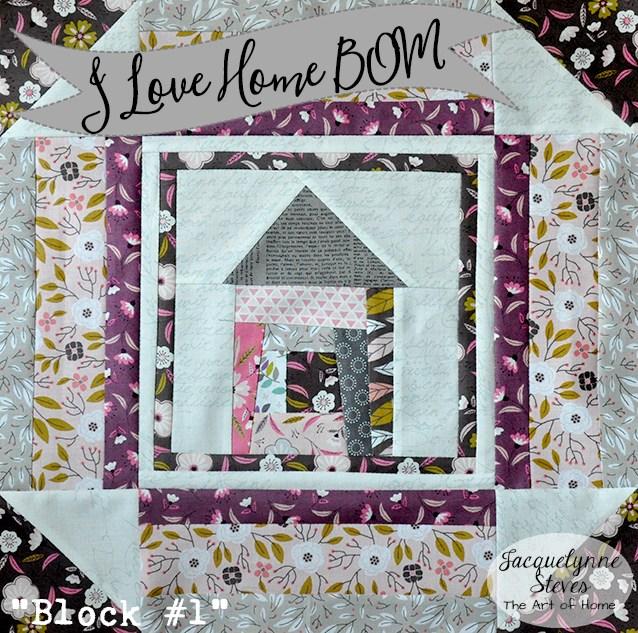 I Love Home BOM Wonky House Block @ Jacquelynne Steves