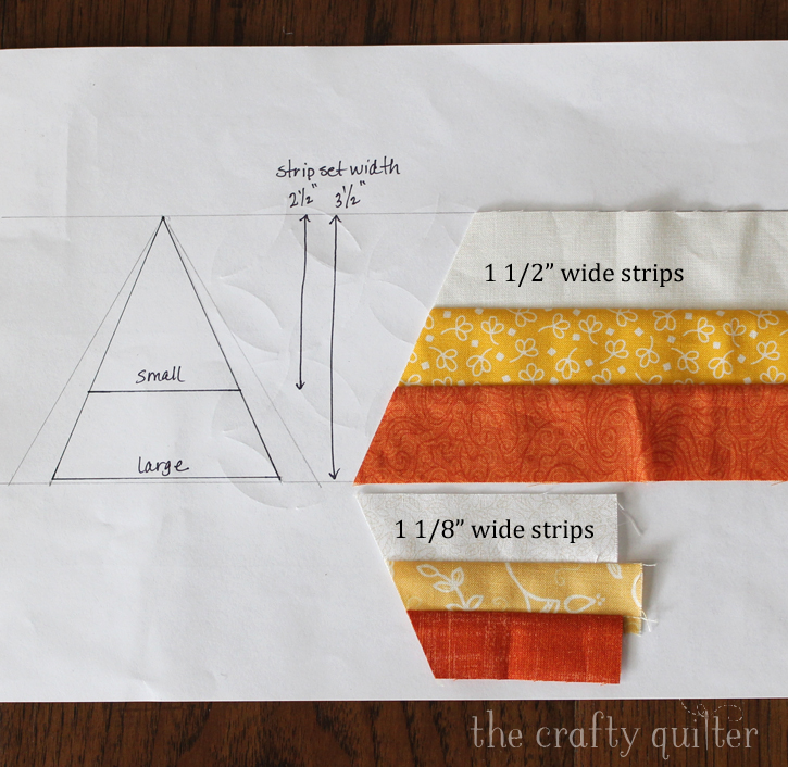 Candy Corn Flowers Applique - a little tutorial from The Crafty Quilter