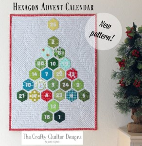 Hexagon Advent Calendar & Pillow designed by Julie Cefalu @ The Crafty Quilter Designs