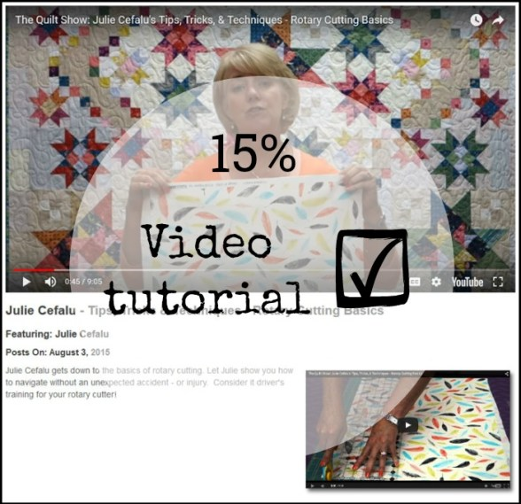 Video Tutorial, Rotary Cutting Basics by Julie Cefalu for The Quilt Show