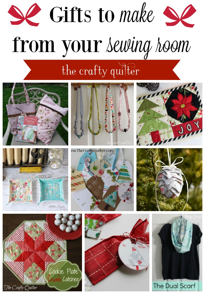 Gift ideas to make and give from your sewing room