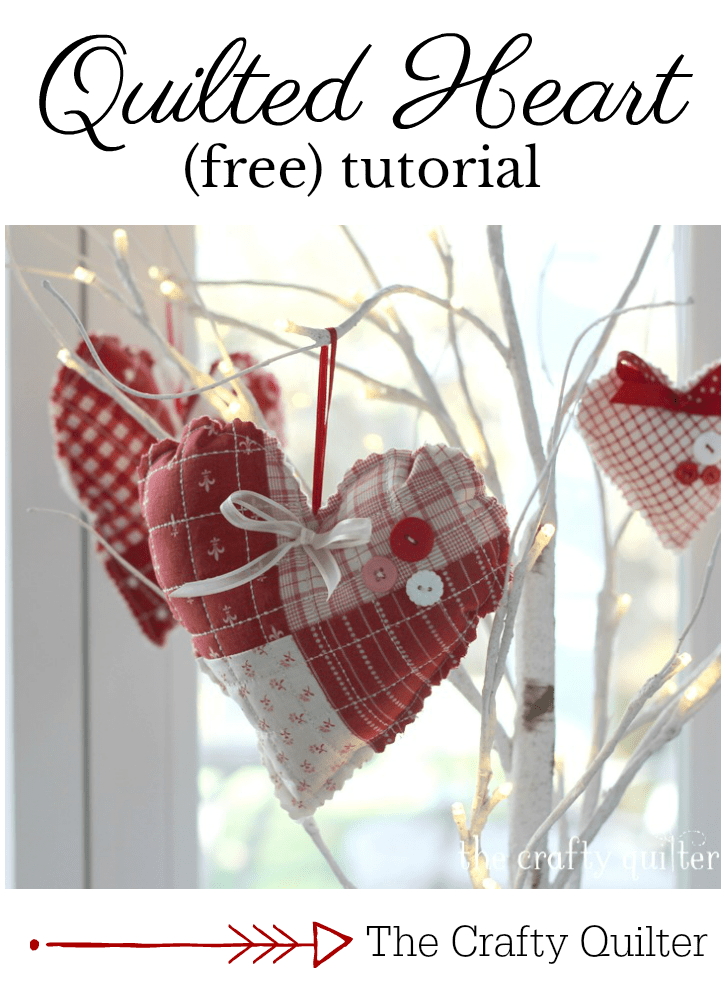 Quilted Heart Tutorial The Crafty Quilter