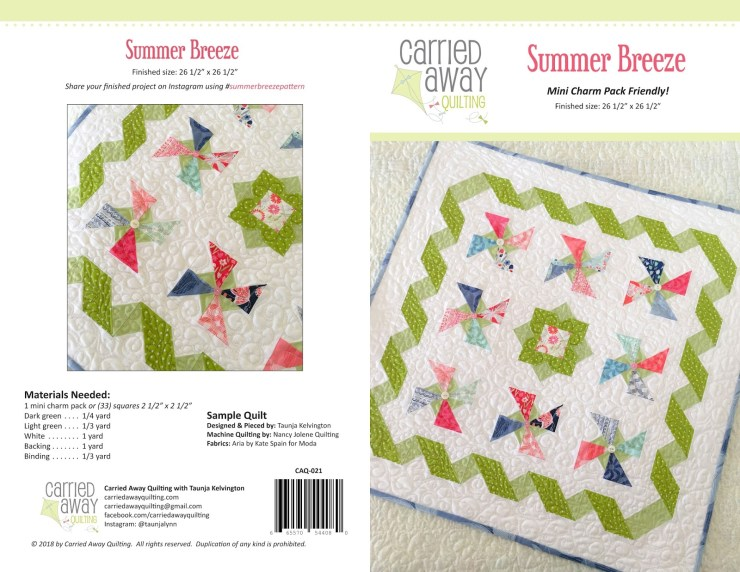 Summer Breeze by Carried Away Quilting