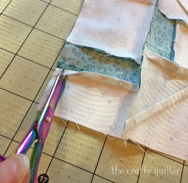 How to fix and prevent flipped seam allowances. It's easy! @ The Crafty Quilter
