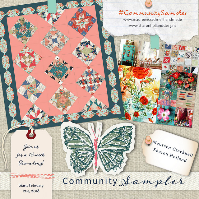 Community Sampler Sew a Long by Maureen Cracknell and Sharon Holland