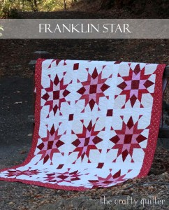 Franklin Star Quilt pattern designed by Julie Cefalu of The Crafty Quilter Designs.