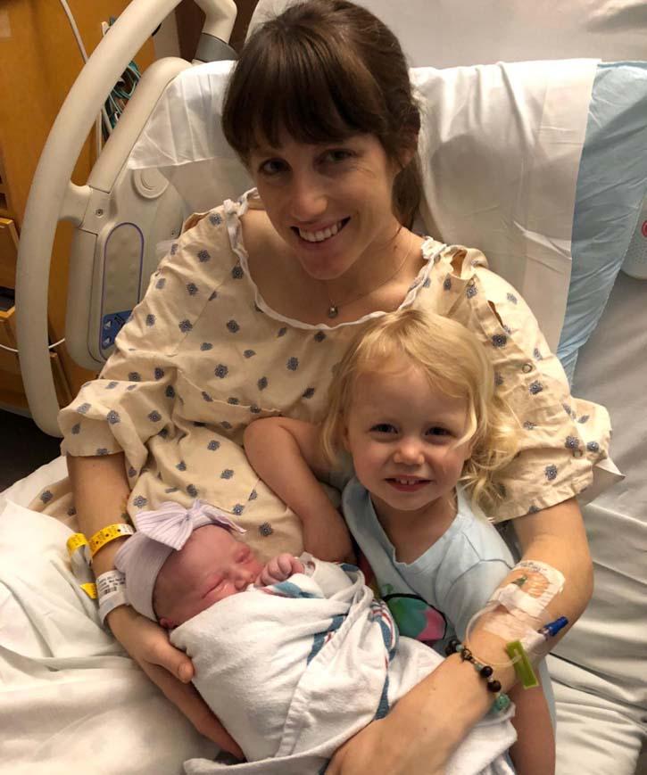Kelly, Amelia & Baby Clara