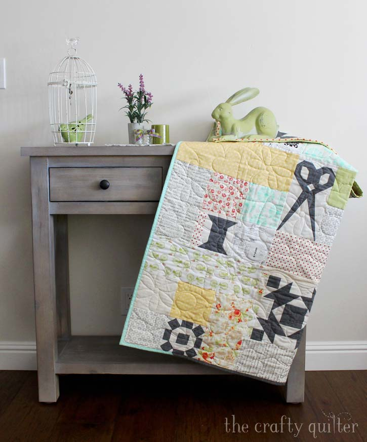 Sewing Patchwork made by Julie Cefalu. Pattern by Fig Tree & Co.