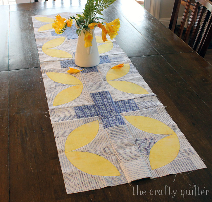 Modern Plus Table Runner is September's UFO & WIP project @ The Crafty Quilter.