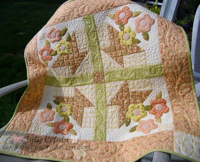 May Day Basket Part 1 includes cutting and piecing instructions to make this cute wall hanging @ The Crafty Quilter