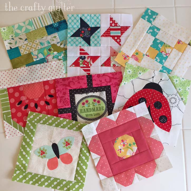 The Patchsmith's Sampler Blocks, made by Julie Cefalu. Designed by Amanda Weatherill