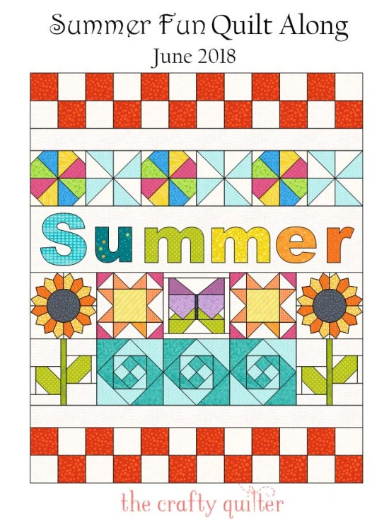Summer Fun Quilt Along by Julie Cefalu @ The Crafty Quilter begins June 1, 2018