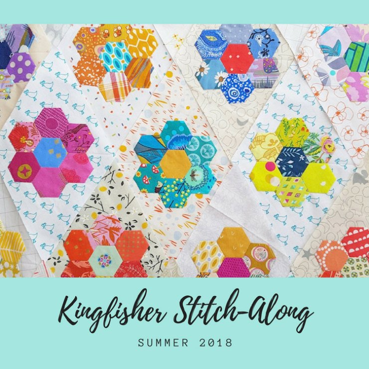 Kingfisher Stitch Along hosted by Stitched in Color and Tales of Cloth