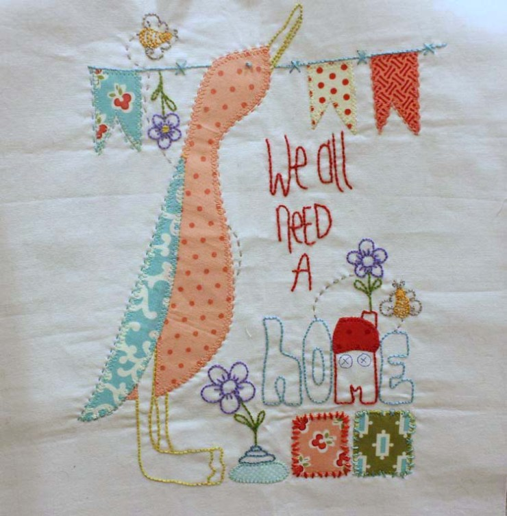 Wednesday WIP (work in progress) @ The Crafty Quilter. Pattern by Jenny of Elefantz Designs.