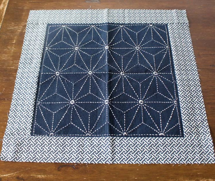 Wednesday WIP (work in progress) Sashiko @ The Crafty Quilter