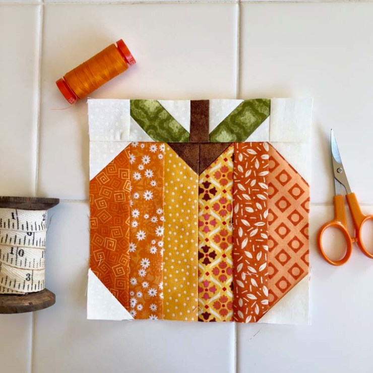 Block 20 from the Patchsmith Sampler Sew Along; made by Julie Cefalu @ The Crafty Quilter