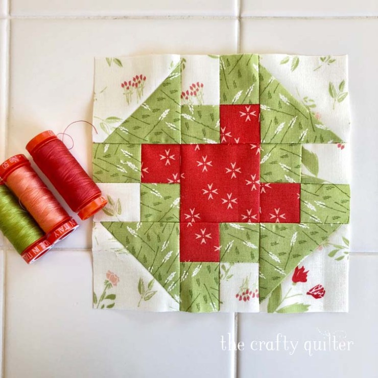 Block 22 from the Patchsmith Sampler Sew Along; made by Julie Cefalu @ The Crafty Quilter