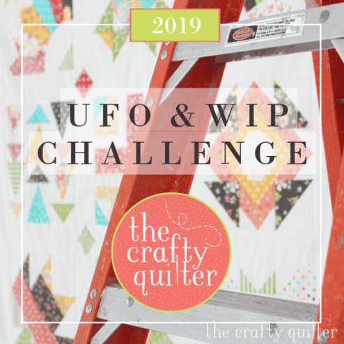2019 UFO & WIP Challenge @ The Crafty Quilter