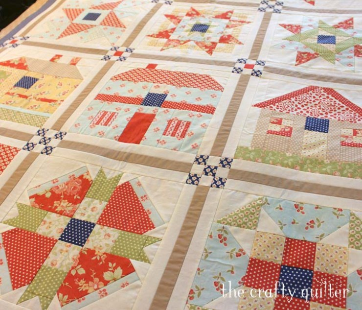WIP Wednesday:  my 2013 Fat Quarter Shop Mystery BOM quilt top is finished @ The Crafty Quilter