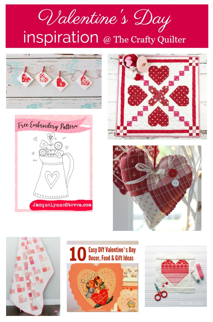 Valentine's Day Project to Make & Inspiration @ The Crafty Quilter
