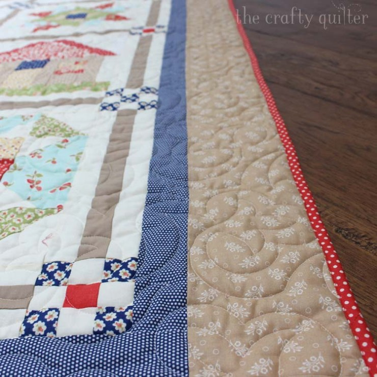 2013 Fat Quarter Shop Mystery BOM quilt finished! Made by Julie Cefalu @ The Crafty Quilter