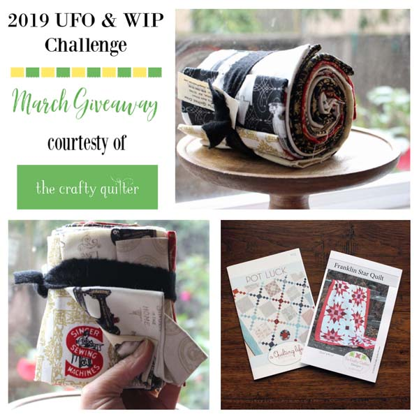 March UFO & WIP Challenge Giveaway @  The Crafty Quilter