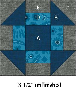 """Sew Happy Mini Quilt Tutorial (free) by Julie Cefalu @ The Crafty Quilter. Finished quilt size is 18 1/2"""" x 17"""" and the quilt blocks are 3""""."""