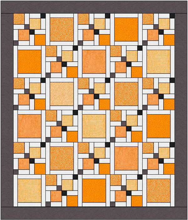 Different layout option for Disappearing 9-patch quilt at The Crafty Quilter.