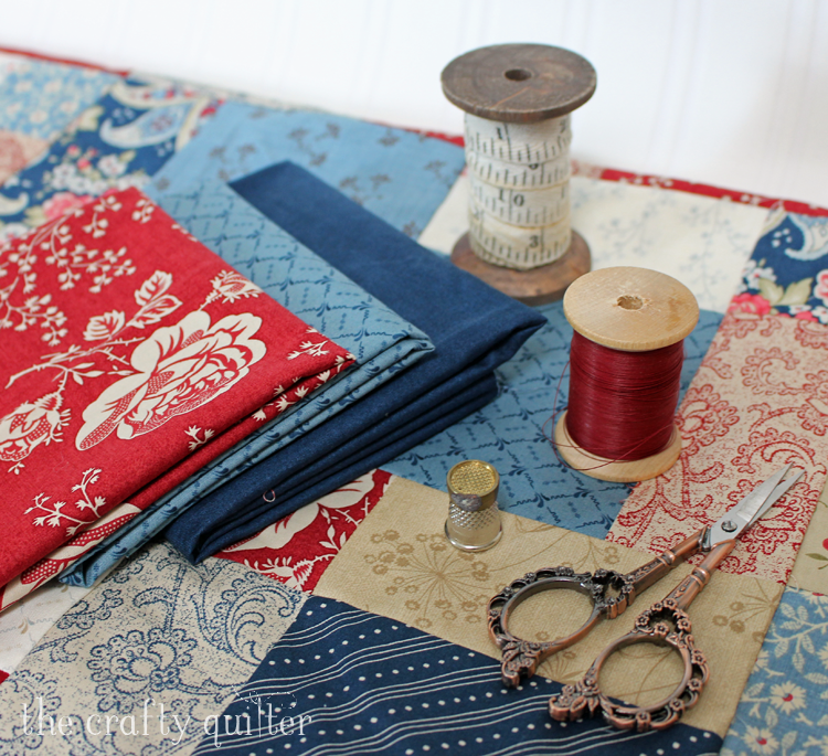 Red, White & Blue fabric play @ The Crafty Quilter