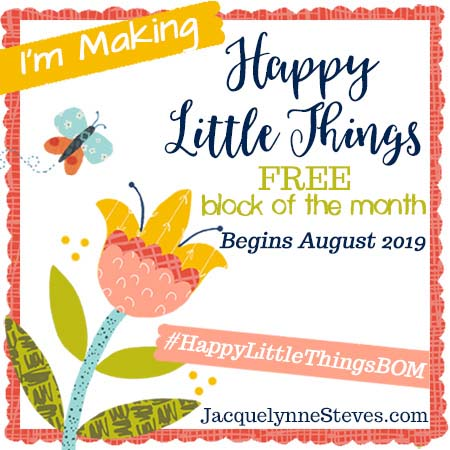Happy Little Things free block of the month by Jacquelynne Steves.