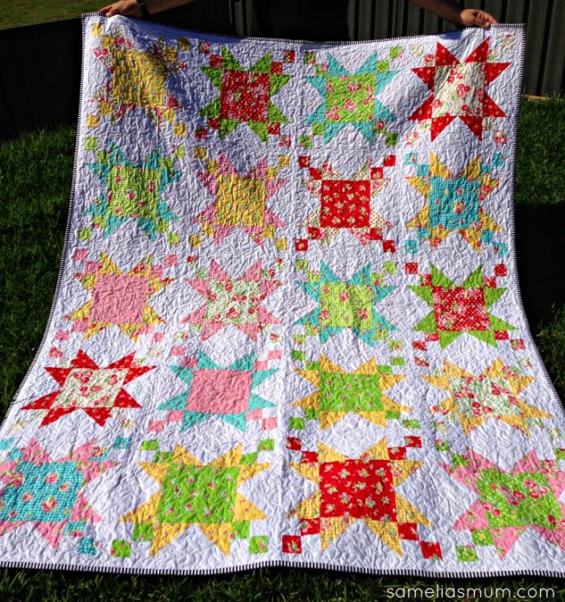 Sugar Stars Quilt Pattern @ Samelia's Mum