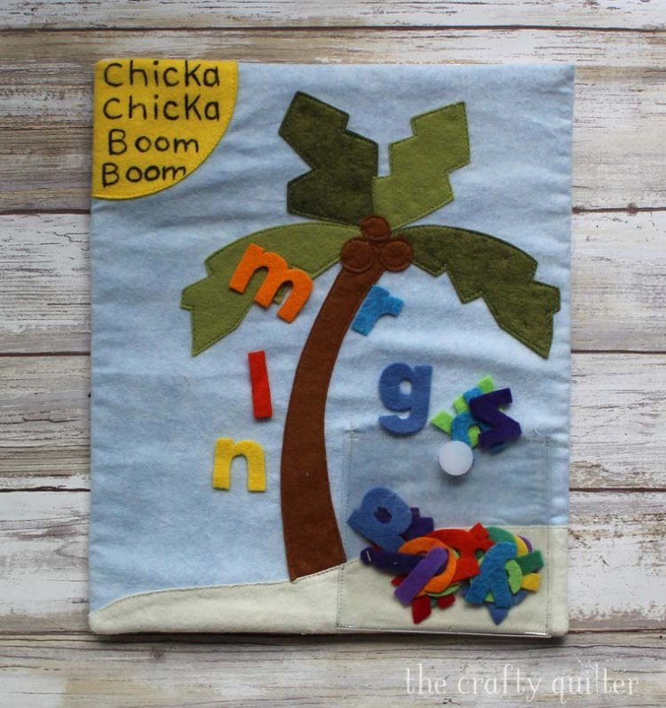 Chicka Chicka Boom Boom Busy Book page made by Julie Cefalu @ The Crafty Quilter
