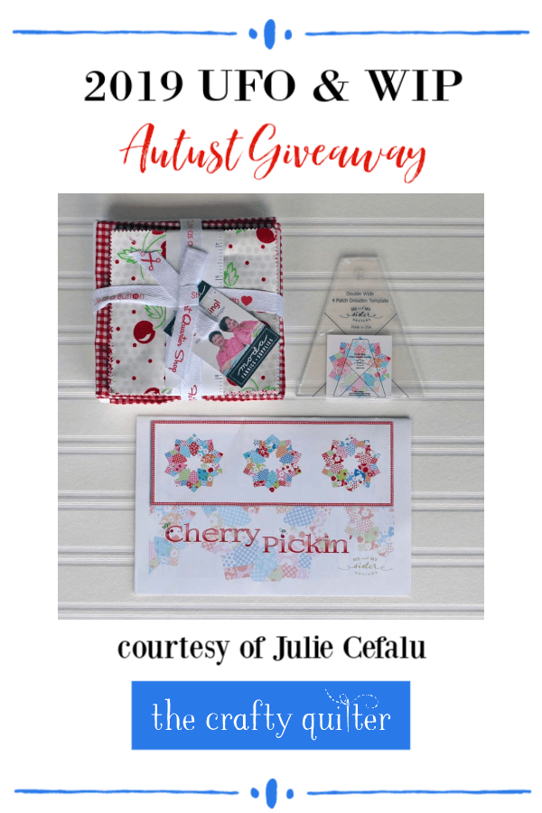 August UFO & WIP Challenge prize for those who join the linky party @ The Crafty Quilter