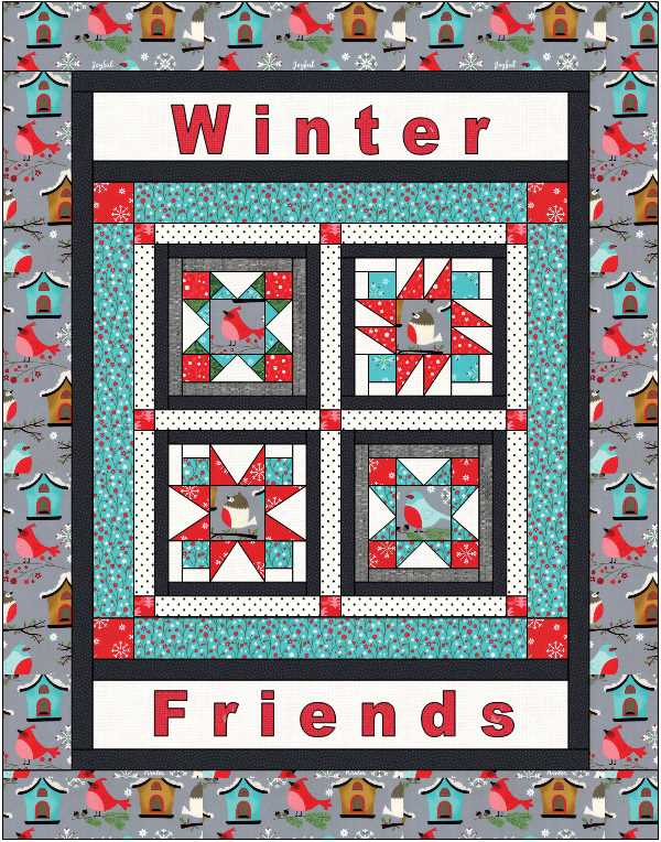 Happy Little Things BOM, by Jacquelynne Steves.  Mini version @ The Crafty Quilter