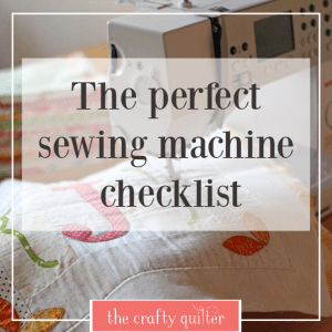 The Perfect Sewing Machine Check List (for quilters) has all of my favorite functions! Julie @ The Crafty Quilter