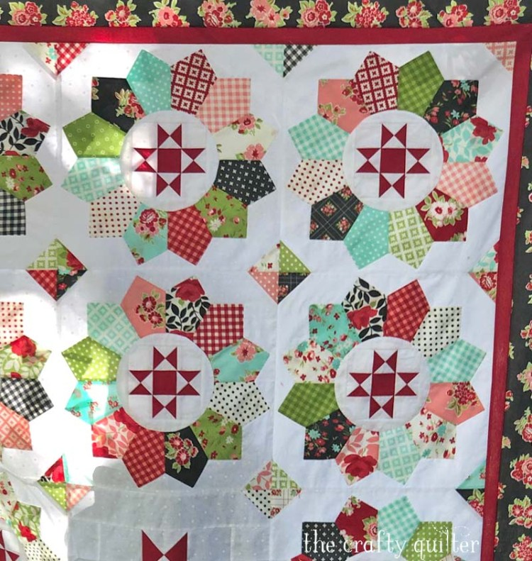 Plain & Fancy quilt made by Julie Cefalu @ The Crafty Quilter.  Pattern by Corey Yoder of Coriander Quilts