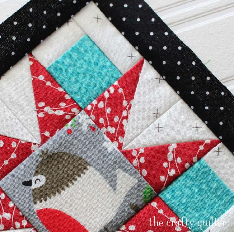 Pretty star points made with half-rectangle triangles.  Pattern designed by Jacquelynne Steves. Quilt block made by Julie Cefalu.