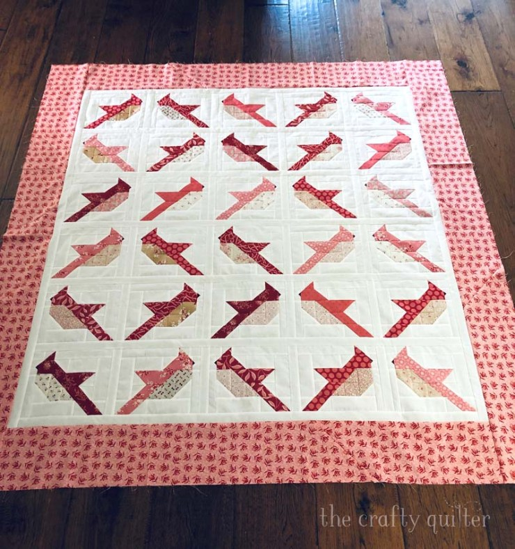 Cardinals quilt made by Julie Cefalu @ The Crafty Quilter.  Pattern by The Pattern Basket.